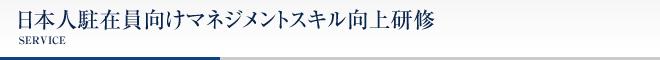 日本人駐在員向けマネジメントスキル向上研修